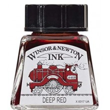 Encre rouge profond calligraphie