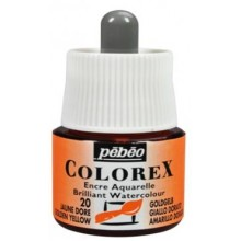 Encre aquarellable colorex jaune doré