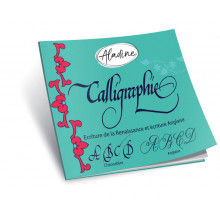 English calligraphy notebook